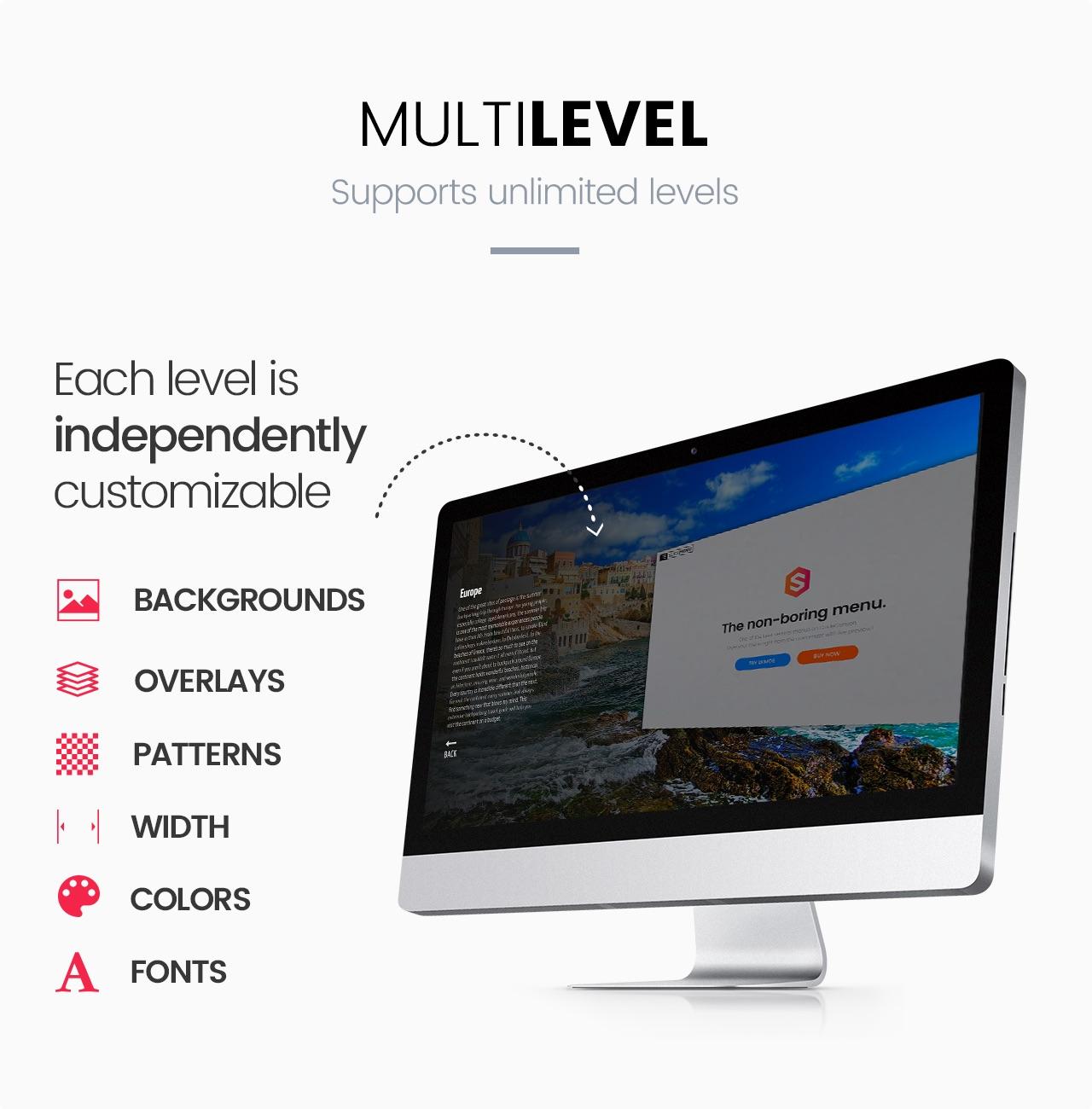 Slick Menu - Multi Level Support
