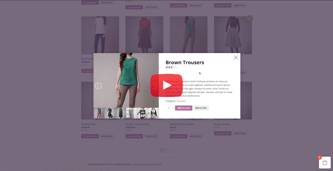 WooCommerce Interactive Product Quick View 1