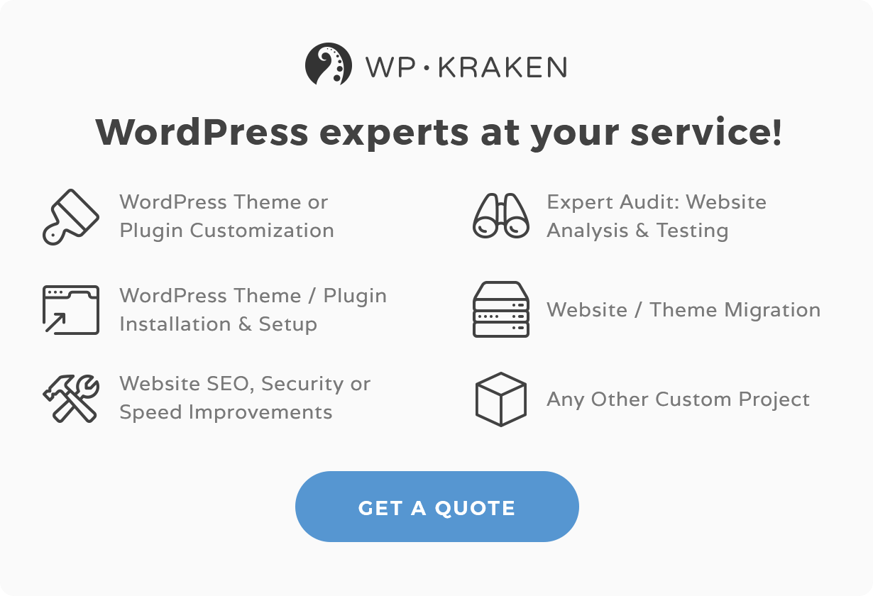 WordPress Experts at your service!