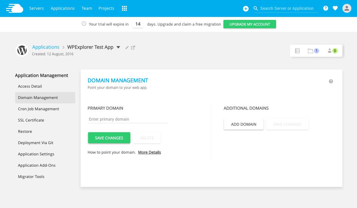 Cloudways Domain Manager