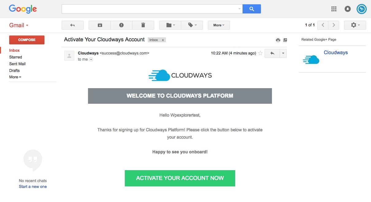 Cloudways Account Verification