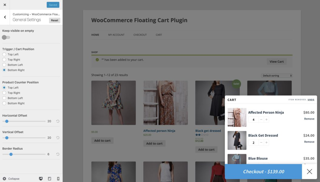 Woo Floating Cart - An Interactive Floating Cart for WooCommerce